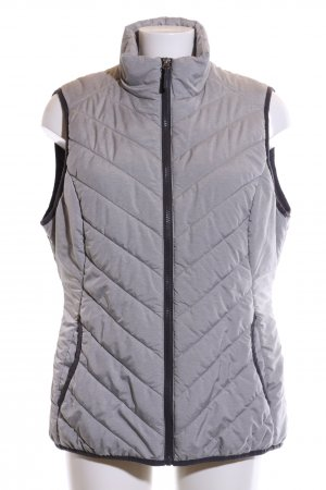 active Sports Vests light grey-black quilting pattern casual look