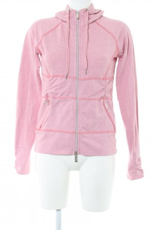 active Sweat Shirt pink flecked casual look