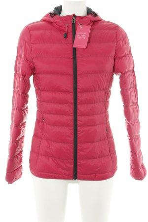 active Übergangsjacke rot-pink Steppmuster sportlicher Stil