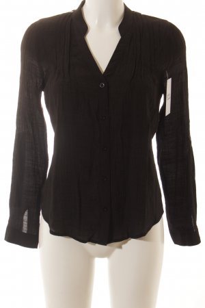 Active USA Long Sleeve Blouse black Lace trimming