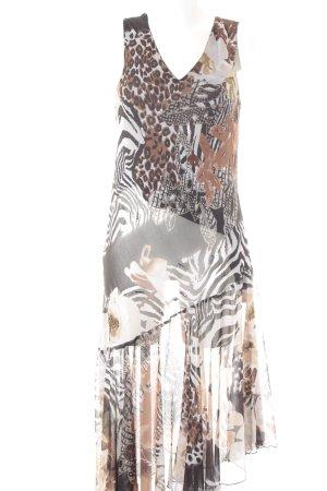 Adagio A-Linien Kleid abstrakter Druck Antik-Look