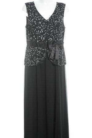Adagio Vestido de noche negro-blanco elegante