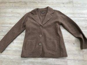 Adagio Blazer de lana marrón claro