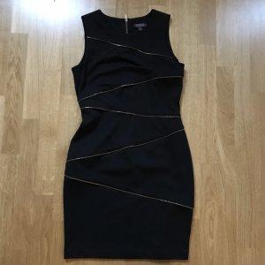 Adagio Collection Kleid Schwarz mit goldenen Reißverschlüssen Gr 38