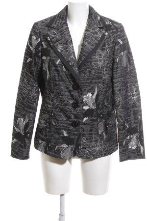 Adagio Blazer in jersey nero-grigio chiaro motivo floreale elegante