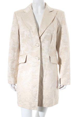 Adagio Abrigo corto crema-beige estampado floral estilo «business»