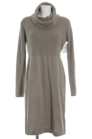 Adagio Vestido de manga larga marrón grisáceo look casual