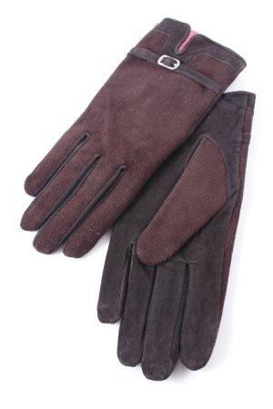 Adagio Leather Gloves dark brown simple style