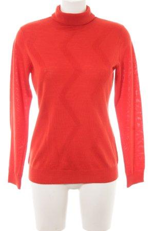 Adagio Jersey de cuello alto rojo Patrón de tejido look casual