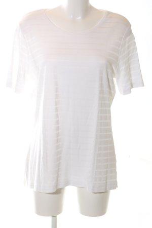 Adagio T-Shirt weiß Streifenmuster Casual-Look