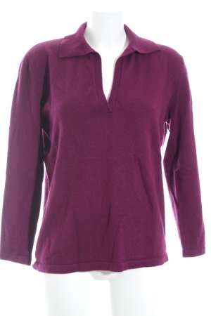 Adagio Wollpullover purpur schlichter Stil