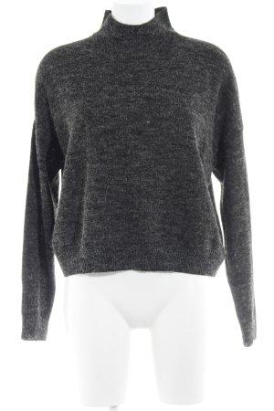 Adapt Rollkragenpullover schwarz-grau meliert Casual-Look