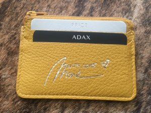 ADAX by Marie Nasemann Card Holder Kartenetui in Curry limited Edition