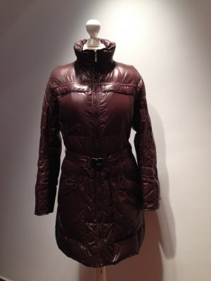 Down Coat brown red polyurethane