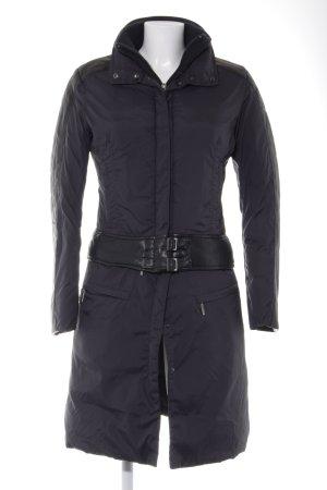 Add Veste matelassée noir motif de courtepointe style décontracté
