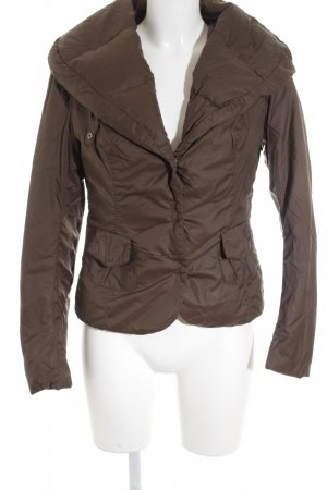Add Veste d'hiver brun motif de courtepointe style simple