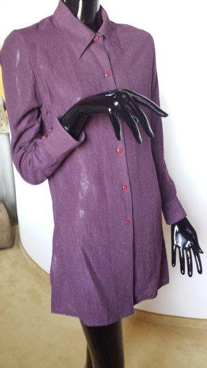 Addera, Twill fit, lange Bluse, dunkelviolett, Gr.S