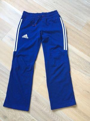 Adidas Pantalone fitness blu Cotone