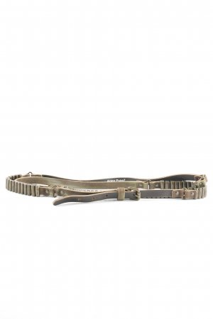 Adele Fado Leather Belt dark brown-bronze-colored military look
