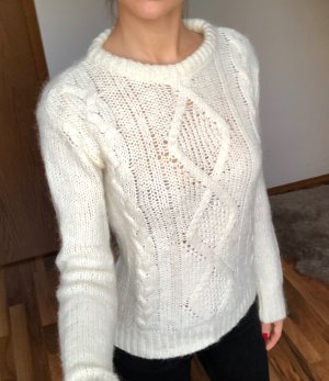 Adele Fado Strickpullover Cable Knit Ecru Gr. XS