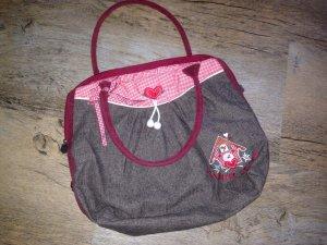 Adelheid Bolso con correa gris-rojo Algodón
