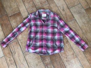 Adenauer & Co Blusa de manga larga rosa neón-gris Algodón