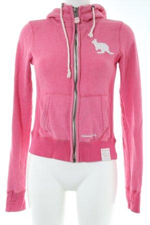 Adenauer & Co Giacca con cappuccio rosa stile casual