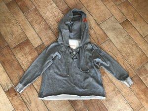 Adenauer & Co Jersey con capucha gris-gris oscuro Algodón