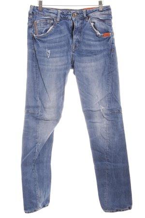 Adenauer & Co Jeans slim fit blu fiordaliso-blu acciaio stile povero