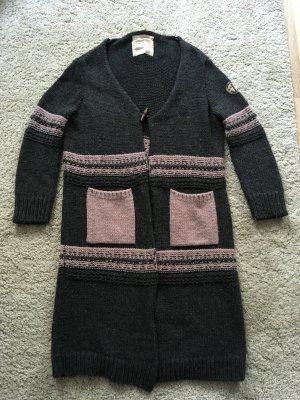 Adenauer & Co Cardigan in maglia antracite-rosa antico