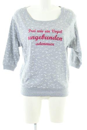 Adenauer & Co Sweatshirt Allover-Druck Casual-Look
