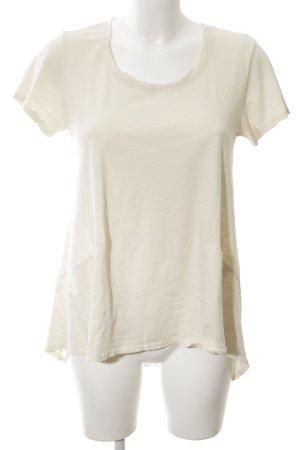 Adenauer & Co T-shirt crema-bianco sporco stile semplice