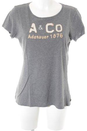 Adenauer & Co T-shirt argento-bianco sporco stile casual