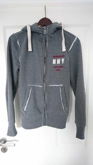Adenauer & Co Sweat Jacket white-grey