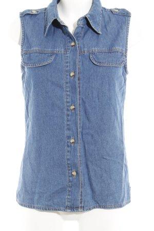adessa Gilet en jean bleu pâle style décontracté