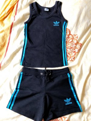 Adidas Twin Set negro-turquesa