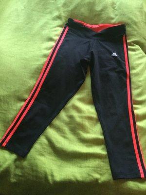 Adidas Pantalon 3/4 noir-orange fluo