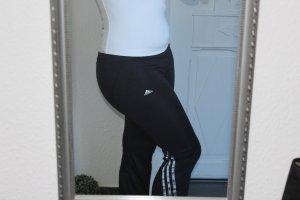 Adidas 3-Stripes Climacool Sport Hose / Fitness Pant schwarz silber XS / S