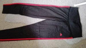 Adidas Leggings gris oscuro-naranja neón tejido mezclado