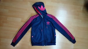 Adidas Veste en jean rose-bleu