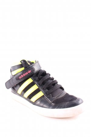 Adidas Absatz Sneaker schwarz-neongelb sportlicher Stil
