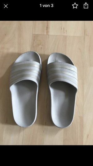 Adidas Scarpa da barca argento-celeste