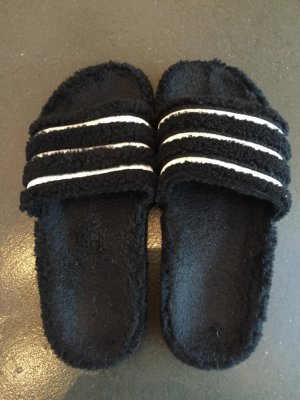 Adidas Pantoufles blanc-noir