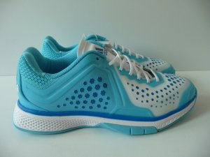 Adidas Lace-Up Sneaker white-baby blue synthetic