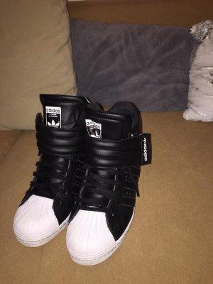 Adidas Originals Zapatilla tipo cuña negro-blanco Cuero