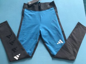 Adidas Leggings dark grey-light blue