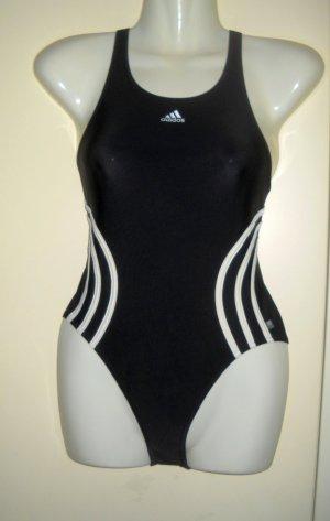 ADIDAS Badeanzug Schwimmanzug Einteiler 32 34 36 XS XXS XS S schwarz weiß w. neu