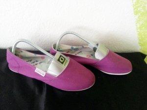 Adidas NEO Bailarinas plegables lila fibra textil