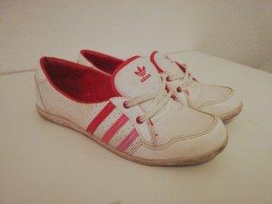 Adidas Lakleren ballerina's wit