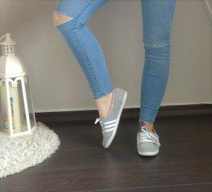 Adidas Ballerinas Sneaker weiß hellgrau wildleder 38